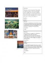 English Worksheet: Describing a place