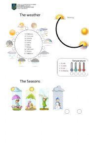 English Worksheet: the weather vocabulary