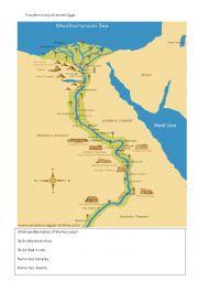 English Worksheet: egypt geography worksheet