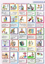 English Worksheet: HOUSEHOLD CHORES.