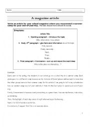 english article essay Articles cae (cpe) a t least one of the tasks in paper 2 will invol ve writing something published in an english-language the article could be.
