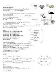 English Worksheet: Song worksheet - Up & Up (By Coldplay)
