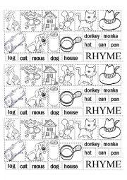 English Worksheet: RHYMES