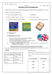 English Worksheet: introductory module: first impressions