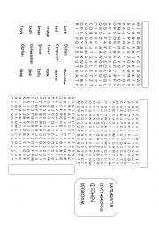 english worksheets alphabet soup bedroom kitchen and bathroom. Black Bedroom Furniture Sets. Home Design Ideas