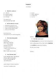 English Worksheet: The Best Tina Turner