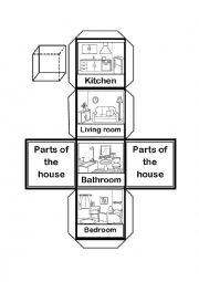 Parts of the House Cube worksheet - ESL worksheet by ...