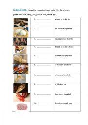 English Worksheet: COOKING FOOD