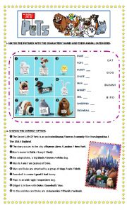 This is a picture of Crafty Secret Life of Pets Printables