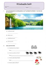 English Worksheet: Final Exam- 3rd grade primary