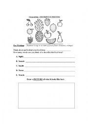 English worksheet: Descriptive Writing Composition