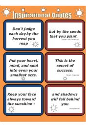 English worksheet: Quotes-1  INSPIRATIONAL QUOTES
