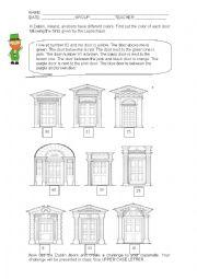 English Worksheet: Dublin Doors