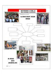 English Worksheet: REPORT WRITING - DESCRIBING FIRE AT SCHOOL CANTEEN