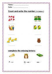 worksheet for beginners