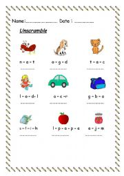 English worksheet: worksheet for beginners (2)