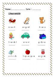 English worksheet: worksheet for beginners (2)