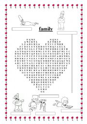 English Worksheet: Simpsons� family word search II