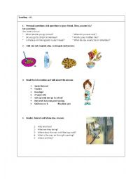 English worksheet: Oral exam card for kids including Marcel and Mona Lisa