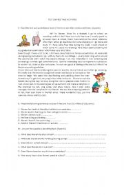 English worksheet: FREE TIME ACTIVITIES TEST