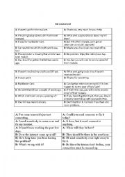 English Worksheet: COMPLAINT ROLE PLAY DIALOGUE