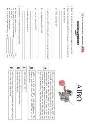 English Worksheet: Cyber pet AIBO
