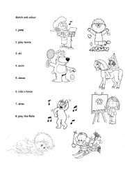 English Worksheet: Activities- matching.
