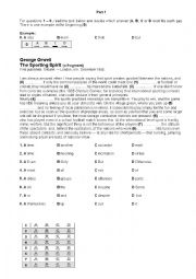 English Worksheet: Cambridge FCE mock exam - Use of English