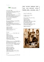 English Worksheet: Crazy - Aerosmith