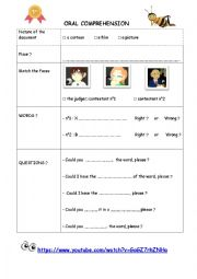 English Worksheet: Spelling bee contest worksheet (SNL)