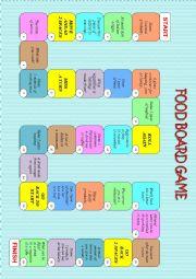 English Worksheet: FOOD BOARD GAME