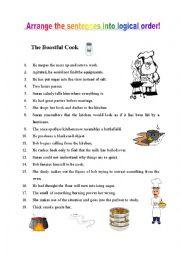 English Worksheet: Arrange the sentences into logical order