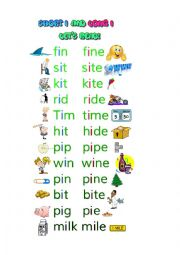 English Worksheet: Short and Long Vowel I Reading Worksheet