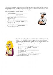 English Worksheet: Reading comprehension Starters Adults