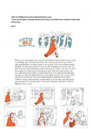 English Worksheet: little red riding hood reading comprehension