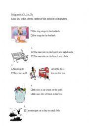 Diagraphs sh th ch sentence reading