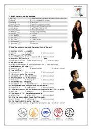 Phrasal Verbs Sports & Health Worksheet