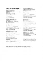 English Worksheet: Roxette - Milk and Toast and Honey