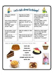 English Worksheet: Let�s Talk about Birthdays