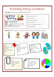 Invitations Worksheet