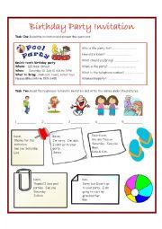 English Worksheet: Invitations Worksheet