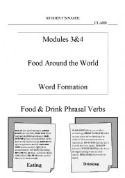English Worksheet: Food around the World & Word Formation (Part I)