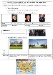 English Worksheet: White House Easter Egg Roll