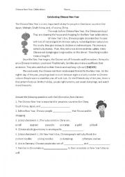 English Worksheet: Celebrating Chinese New Year