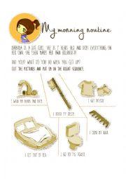 English Worksheet: Morning routine
