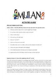 Mulan Activity Guide