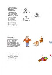 English Worksheet: 5 short poems for kids