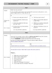 Bullying and Health -  Oral Assessment