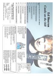 English Worksheet: Ed Sheeran - Castle on the hill
