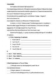 English worksheet: Reading passage